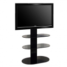 L&C Totem 1500 Base TV Standfuß Black