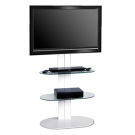 L&C Totem 1500 Base TV Standfuß White